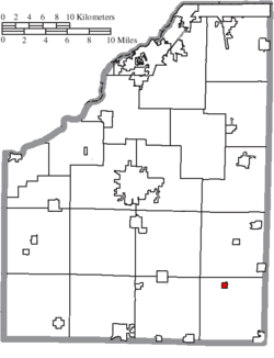 Location of West Millgrove in Wood County
