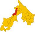 Map of comune of Poggio Torriana (province of Rimini, region Emilia-Romagna, Italy).png