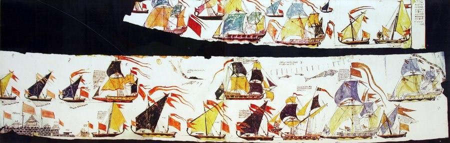 Maratha ships scroll