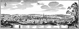 Marienberg - Marienberg in 1650