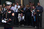 Marine band plays in New York rain DVIDS452613.jpg