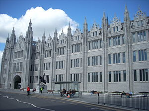 Marischal College - Seen from Broad Street, May 2012