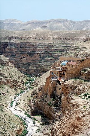 Judaean Desert - Mar Saba, in the Kidron Valley.
