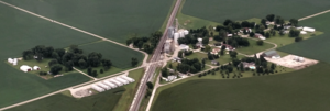 Marshfield, Indiana - Aerial view looking to the southwest