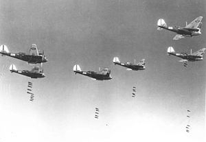 427th Reconnaissance Squadron - Martin B-10s bombing in formation