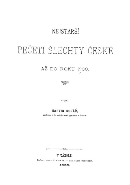 File:Martin Kolář - Nejstarší pečeti šlechty české až do roku 1300 - 1883.pdf