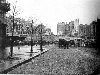 Avenue de l'Opéra - Image: Marville Percement av Opera 1877