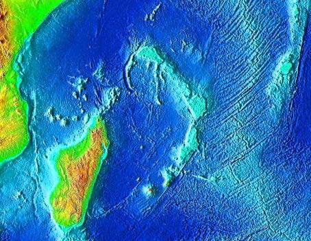 Mascarene Plateau topography