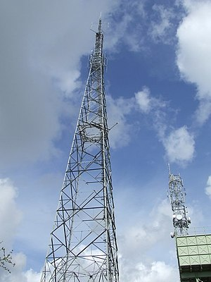 BBC Radio Norfolk - The transmission tower at Great Massingham.