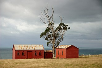 Waikouaiti - These Matanaka Farm buildings from the 1840s are a Category I registered historic place