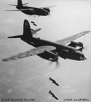 111th Fighter Wing - Martin B-26B Marauder Serial 42-95835 of the 391st Bomb Group.