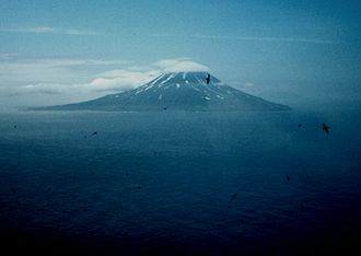Kuril Islands - Matua Island as seen from Raikoke.