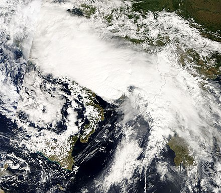 The Mediterranean tropical-like cyclone of 26 September 2006 Mediterranean tropical cyclone September 26 2006.jpg