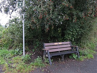 Rhos, Neath Port Talbot - Bench in the village, in memorial for Primrose Colliery disaster of 1858, which claimed the lives of 14 miners (men and boys) and 7 horses