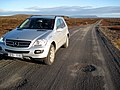 Mercedes-Benz ML class W164 on road 427, following the south edge of Iceland.jpg