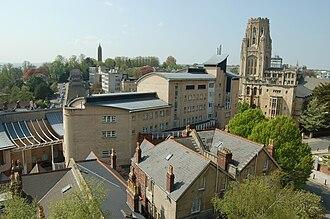 Department of Computer Science, University of Bristol - View of the Merchant Venturers Building, home to the department of computer science, with the Wills Memorial Building in the background