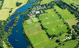 Merchant Taylors' School, Northwood - 2012 Aerial View