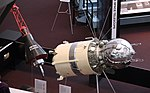 Mercury capsule and Vostok 3KA - one-third scale models - Smithsonian Air and Space Museum - 2012-05-15 (7246252000).jpg