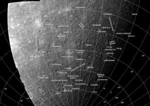 Discovery quadrangle - Mariner 10 photomosaic