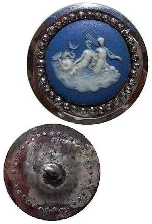 Matthew Boulton - Wedgwood button with Boulton cut steels, circa 1760 (courtesy of Northeast Regional Button Association)