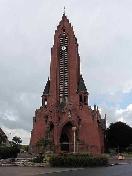 L'église Saint Laurent   Merris,  Nord.- (Nord-Pas-de-Calais).-  France