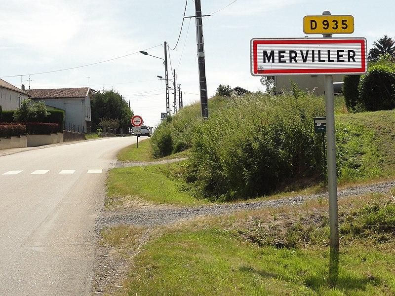 Merviller (M-et-M)  city limit sign