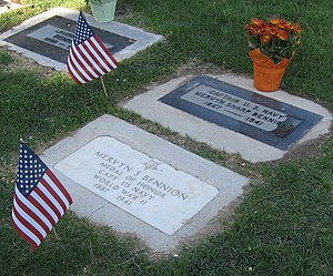 Grave markers of , Captain of the at the time ...