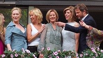 Anni-Frid Lyngstad - Meryl Streep, Agnetha Fältskog, Lyngstad (centre), Christine Baranski and Colin Firth in 2008