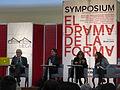 Mesa del Symposium 'El Drama de la Forma' en el MECA, Aguascalientes 01.JPG