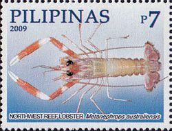 Metanephrops australiensis 2009 stamp of the Philippines.jpg