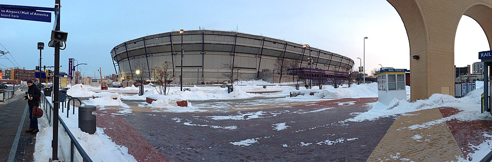 Metrodome before demolition