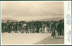 Meyer Albert - Olympic Games, 1896; cyclists beginning the twelve-hour race - Google Art Project.jpg