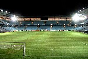 Swedbank Stadion - Image: Mffstadiumnight