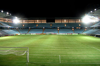 Eleda Stadion soccer stadium in Malmö, Sweden