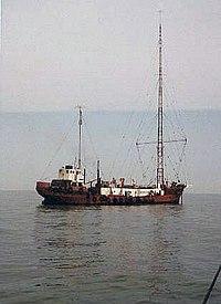 Caroline's second ship, MV Mi Amigo, c. 1974