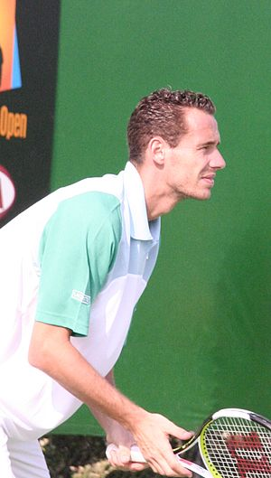 Michael Llodra at their first-round match of t...