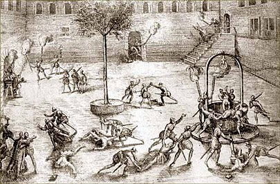 The Michelade massacre by French Huguenots in 1567 Michelade.jpeg