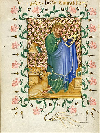 Michelino Molinari da Besozzo - Image: Michelino Molinari da Besozzo St. Luke Painting the Virgin Google Art Project