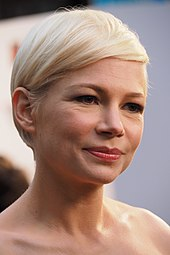 Face shot of Michelle Williams as she looks away from the camera.