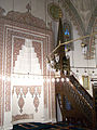 Mihrab and minbar of Firuz Ağa Mosque.jpg