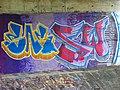 Milín, podjezd pod silnicí č. 4, graffiti.jpg