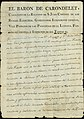 Military appointment of Pierre and Auguste Chouteau to erect a fort in the nation of the Osages, signed Baron of Carondelet, May 21, 1794.jpg
