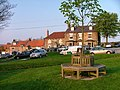 Millennium Seat and the Fox and Hounds Inn, Ainthorpe - geograph.org.uk - 167420.jpg