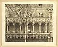 Millenniumi kiállítás- Vajdahunyad vára, a történelmi főcsoport gótikus épületeggyütese, Hunyadi-loggia. - Fortepan 82008.jpg