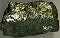 Millerite vein (late Paleoproterozoic, 1.85 Ga; 4200 Level of the Strathcona Mine, Sudbury Mining District, Ontario, Canada) 2 (15216714614).jpg