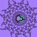 Mini Mandelbrot set period=68 with external rays.png