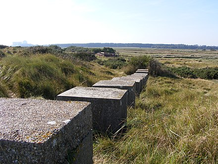 The beach with WW2 tank traps Minsmere Beach - geograph.org.uk - 1733850.jpg