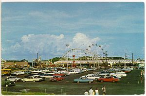 Miracle Strip Amusement Park - A postcard from the 1970s showing the park.