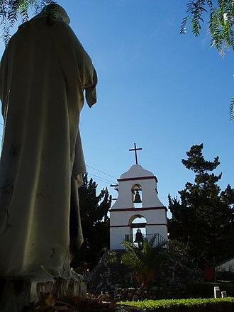 San Antonio de Pala Asistencia - Pala's replica bell tower.