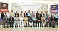 Mohd. Hamid Ansari, the Union Minister for Defence, Shri Manohar Parrikar, three Service Chiefs, General Dalbir Singh, Admiral R.K. Dhowan and Air Chief Marshal Arup Raha.jpg
